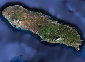 The small island of La Gonave off the coast of Haiti