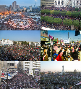 Collage of Arab Spring protests (Credit ليبي via Wikimedia Commons)