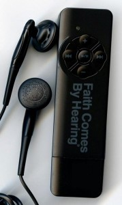 The audio Bible by Faith Comes by Hearing: The BibleStick (Photo by FCBH)