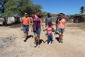 The Gordon family got to meet their sponsored child, 10-year old Mahu.