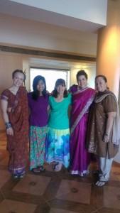 Left to Right: Meg, Melissa, Liz, Kaytie and Stephanie  (Image, caption courtesy India Partners)