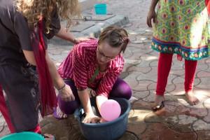Meg leading a session on counseling skills. (Image, caption courtesy India Partners)