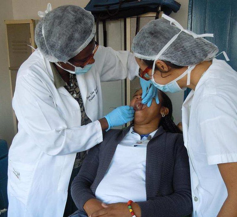 1 dentist and 1 doctor needed in Mozambique.