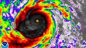 Severe Tropical Cyclone Phailin lurking just off the northeast coast of India at peak intensity.  (Image courtesy NOAA, caption courtesy TheSurvivialPlaceBlog.com)