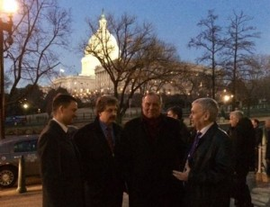 Russian Ministries President Sergey Rakhuba (2nd from left) in Washington for briefing