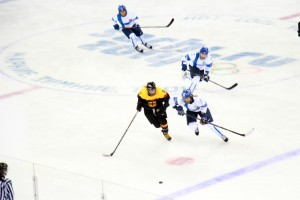 Germany vs Finland in women's hockey (photo by Greg Yoder).