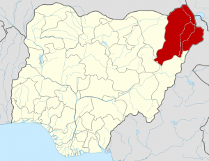 Borno State of Nigeria (Photo from Wikimedia commons http://en.wikipedia.org/wiki/File:Nigeria_Borno_State_map.png)