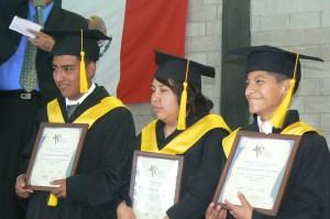 Jose Angel at graduation, far left.  (Image courtesy AMG)