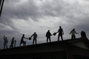 A disaster relief work team helps churches rebuild. (Image courtesy Asian Access)