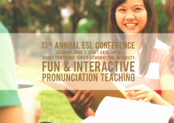Join Cornerstone University's ESL training conference April 5.