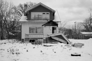 One of thousands of abandoned houses in Detroit, Michigan.  (Photo cred: SJ Carey via Flickr)
