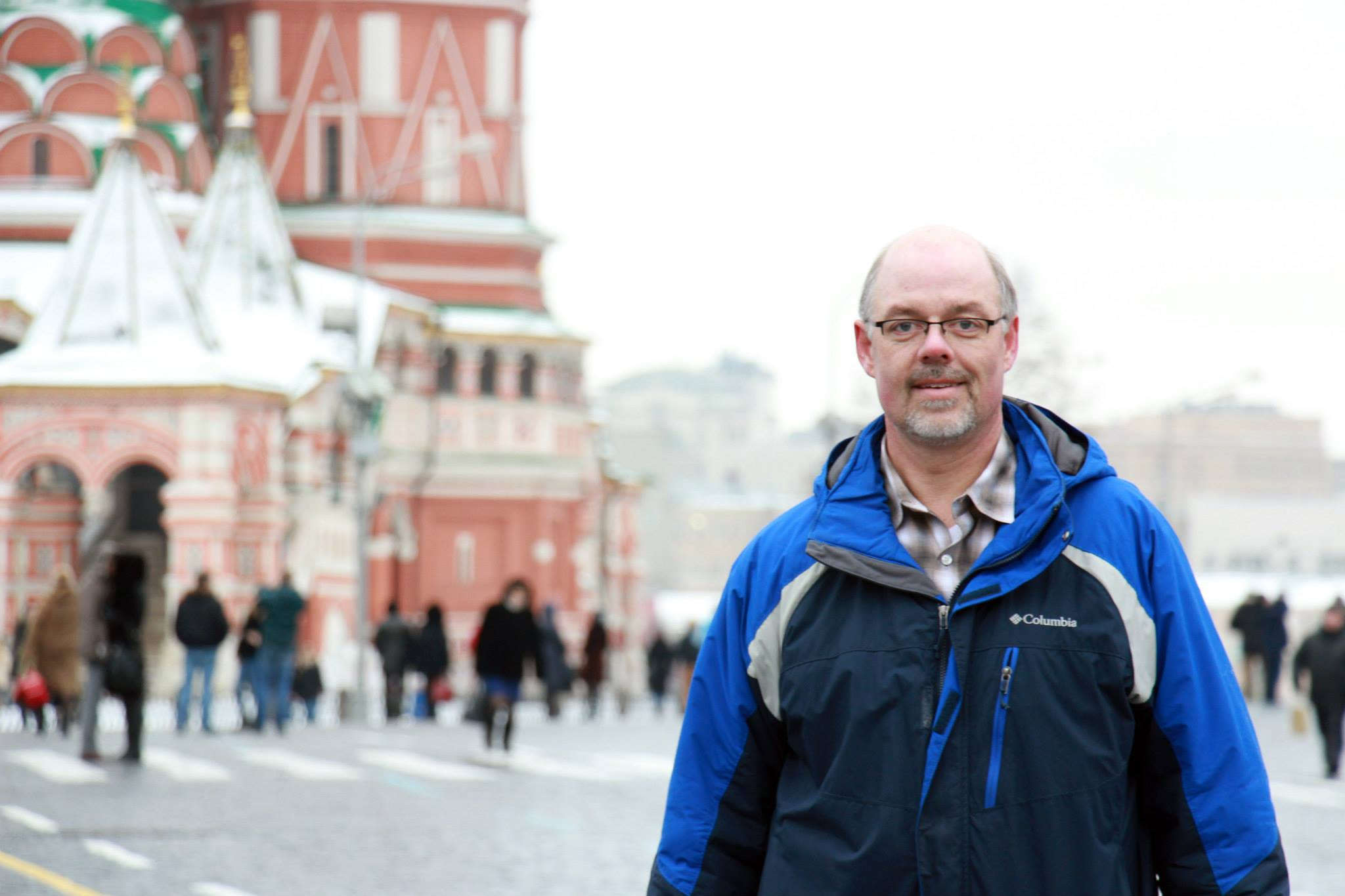 MNN's Greg Yoder in Red Square in February 2014. He shares this commentary on the Russia/Ukraine conflict.