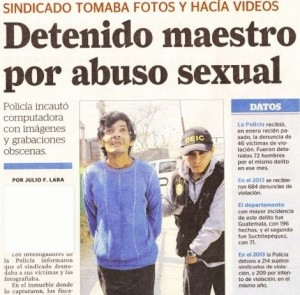 The headline is about the recent arrest of a child predator and pornographer as a result of the work of Kids Alive Guatemala. (Image, caption courtesy Kids Alive via Facebook)