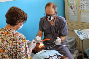 Medical and dental teams also accompany Orphan's Heart trips to Azua.  (Image courtesy Orphan's Heart)