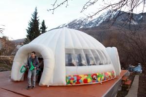 Fun Zone at the Mountain Cluster of Sochi, Russia.
