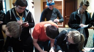 College students signing up for the Open Doors Fortify program.  (Image courtesy Open Doors Fortify via Twitter)