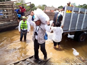 Christian Aid is helping a Bolivian ministry deliver emergency aid to isolated villages.  (Image, caption courtesy Christian Aid)