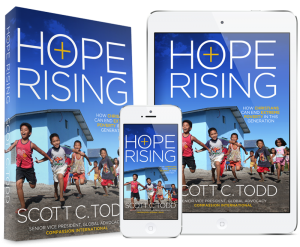"Scott Todd's new book ""Hope Rising"" challenges the conventional idea that extreme global poverty has no end.  (Photo cred HopeRisingBook.com)"