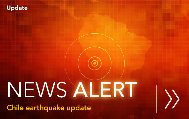 Earthquake and aftershocks hit Chile.