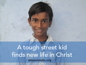 Sukant grew up in a Muslim family. Through a Children's Bible Club, he came to know the Lord Jesus Christ as his personal Savior! (Photo by Mission India)