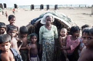Last spring, Cyclone Mahasen brought another level of devastation to Rohingya refugees.  (Image courtesy Partners)
