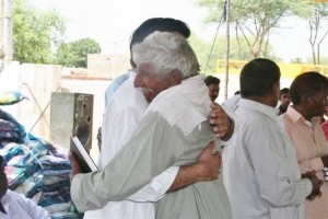 An 81 yr old Christian, who'd prayed for a Bible for decades, wept when VBB gave him one. (Image, caption courtesy VBB)