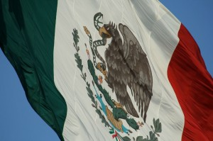 (Mexico flag courtesy Wikimedia Commons)