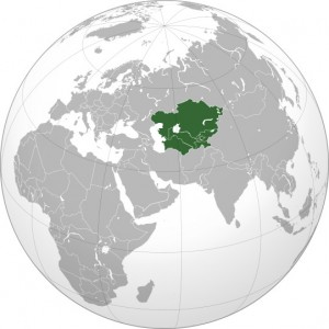 The region of Central Asia includes Kazakhstan, Kyrgyzstan, Tajikistan, Turkmenistan, and Uzbekistan.