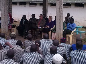 Margaret and her team recently visited a men's prison to share with them the hope in Christ (Photo courtesy of Margaret Farnsworth)