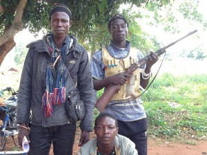 Anti-Balaka militia.  (Image courtesy Bagassi Koura, VOA French via Wikimedia Commons)