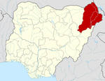 (Map of Gwoza, Borno state, Nigeria courtesy Wikipedia)