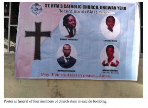 (Stock photo of Nigerian church bombing victims, courtesy Voice of the Martyrs)