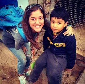 A Project Go! volunteer in Peru (Photo courtesy of Buckner International)