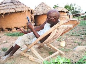 Audio Bibles bring the gospel to remote Nigerian villages. (Image, caption courtesy Christian Aid)