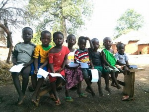 """""""These kids are thrilled about seeing the pediatrician today,"""" says Adeline McCartney, one of the members of Reach Beyond's medical team.  (Image, caption courtesy Reach Beyond)"""