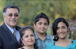 Rev. Mansour and his family (Photo courtesy of SAT-7 )
