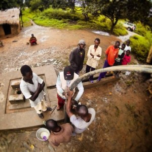 Well maintenance teams have made over 650 service visits to water pumps so far in 2014. (Image, caption courtesy Water For Good)