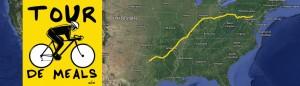 Tour De Meals route (Photo from Tourdemeals.org, Tony Fritz)