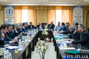 Evangelical leaders meet in Kiev.  (Image courtesy IRS.IN.UA via Russian Ministries)