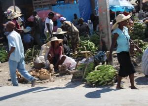 A roadside market near Port-au-Prince, Haiti.  (Photo cred: Katey Hearth)