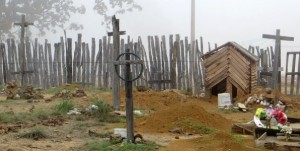 For some people the cemetery is a place of sadness. For others, it's a place of hope. (Photo by New Tribes Mission)