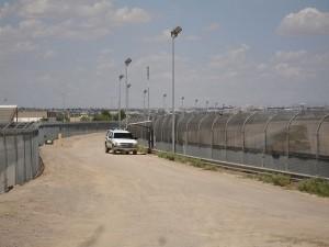 The U.S. border fence near El Paso, Texas.