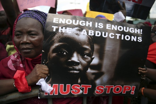 Protesting Boko Haram kidnappings.