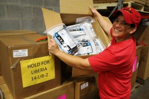 Water filters are among the items GAIN USA is shipping to Liberia. (Image courtesy GAIN USA)