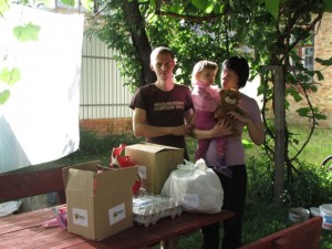 """""""I Care"""" packages provide scripture to families and enough food for a week (Photo courtesy of Russian Ministries)"""