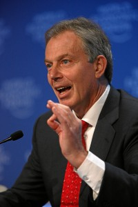 Former UK Prime Minister Tony Blair.