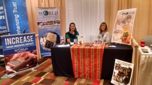 Laurel and co-worker Beverly at the World Mission booth.  (Photo cred: MNN)