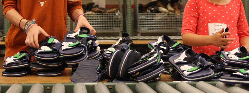 29,244 sandals delivered to Buckner