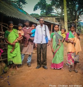 Tribal people line up from dawn to dusk to receive medical care from the pastor. (photo courtesy of Christian Aid)