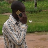 A man listens to The Treasure in Nigeria.  (Photo cred: World Mission)